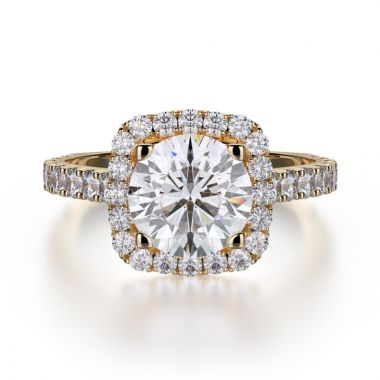 Michael M 18k Yellow Gold Monaco Engagement Ring