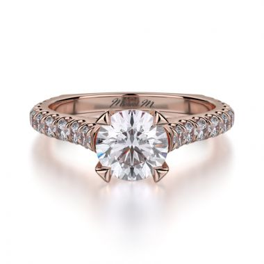 Michael M 18k Rose Gold Stella Engagement Ring