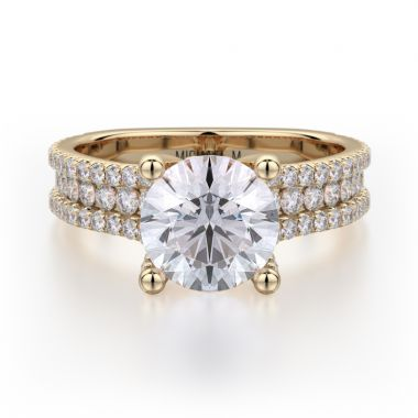 Michael M 18k Yellow Gold Strada Engagement Ring