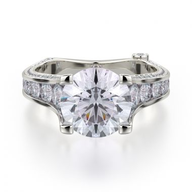 Michael M 18k White Gold Strada Engagement Ring