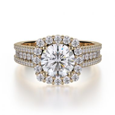 Michael M 18k Yellow Gold Stella Engagement Ring