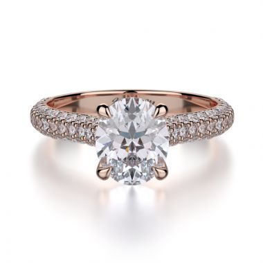 Michael M 18k Rose Gold Straight Engagement Ring