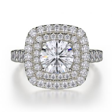 Michael M 18k White Gold Loud Engagement Ring