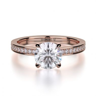 Michael M 18k Rose Gold Bold Engagement Ring