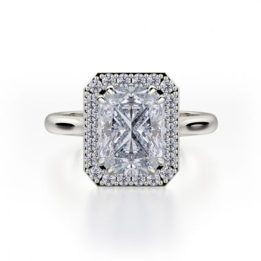 Michael M 18k White Gold Bold Engagement Ring