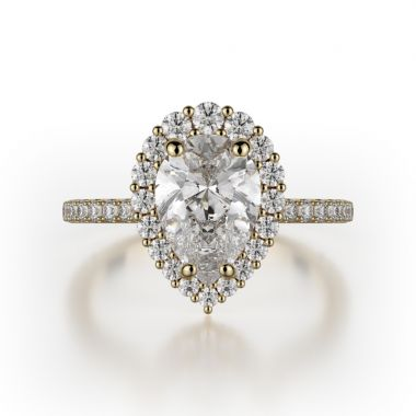 Michael M 18k Yellow Gold Defined Engagement Ring