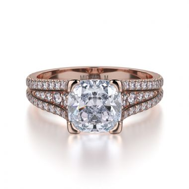 Michael M 18k Rose Gold Loud Engagement Ring