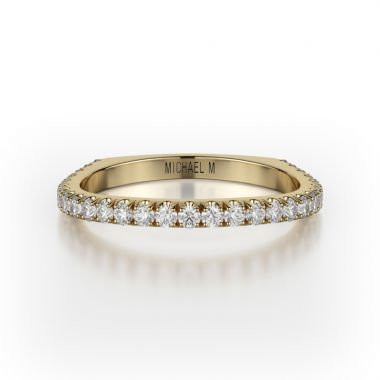 Michael M 18k Yellow Gold Diamond Wedding Band